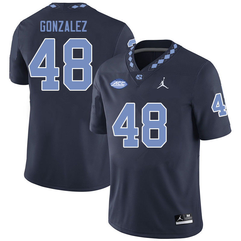 Jordan Brand Men #48 Dilan Gonzalez North Carolina Tar Heels College Football Jerseys Sale-Black