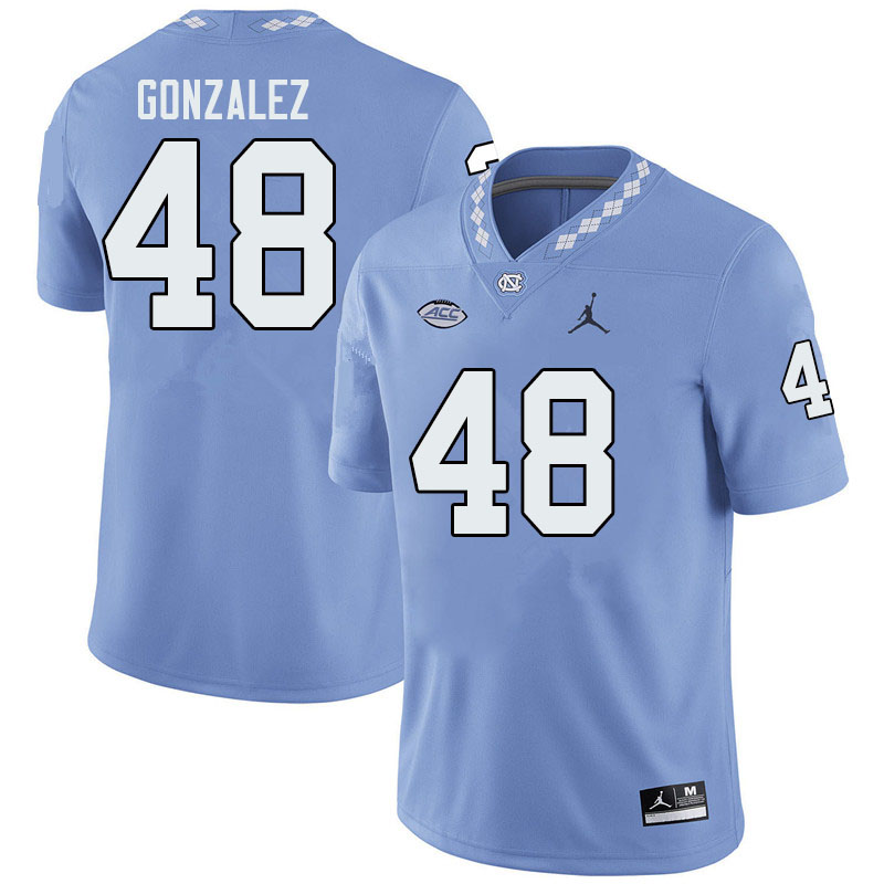Jordan Brand Men #48 Dilan Gonzalez North Carolina Tar Heels College Football Jerseys Sale-Blue