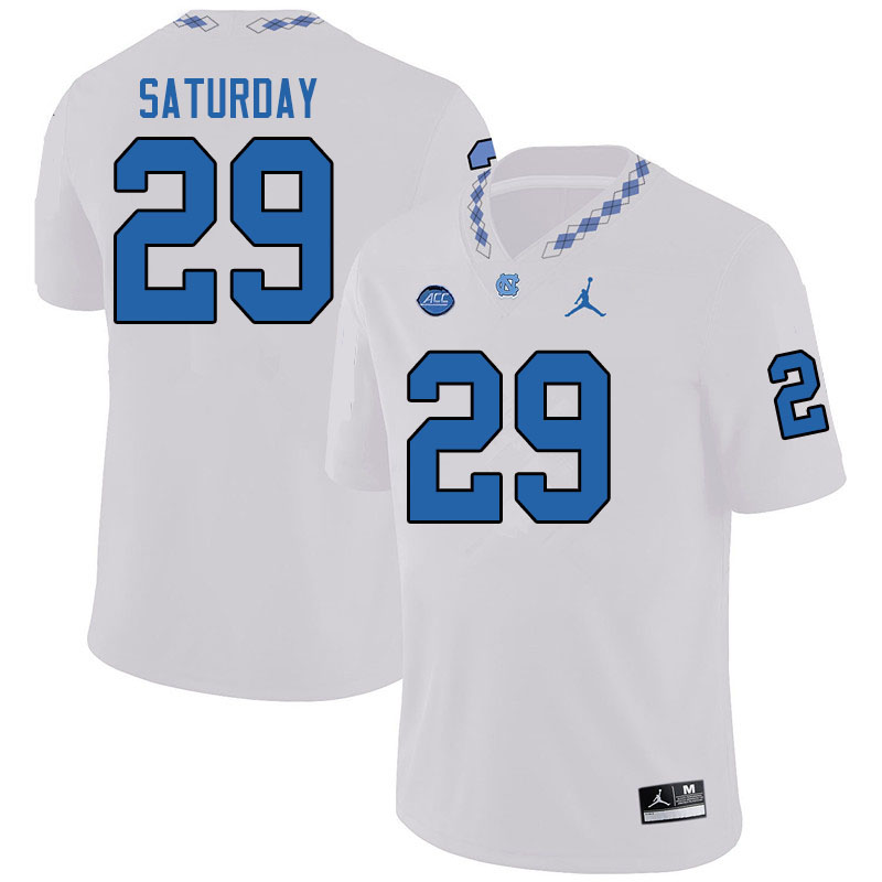 Jordan Brand Men #29 Jeffrey Saturday North Carolina Tar Heels College Football Jerseys Sale-White