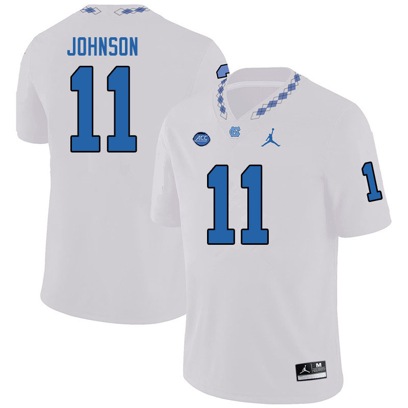 Jordan Brand Men #11 Roscoe Johnson North Carolina Tar Heels College Football Jerseys Sale-White