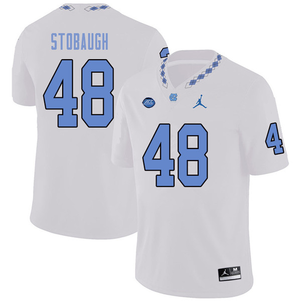 Jordan Brand Men #48 Ben Stobaugh North Carolina Tar Heels College Football Jerseys Sale-White