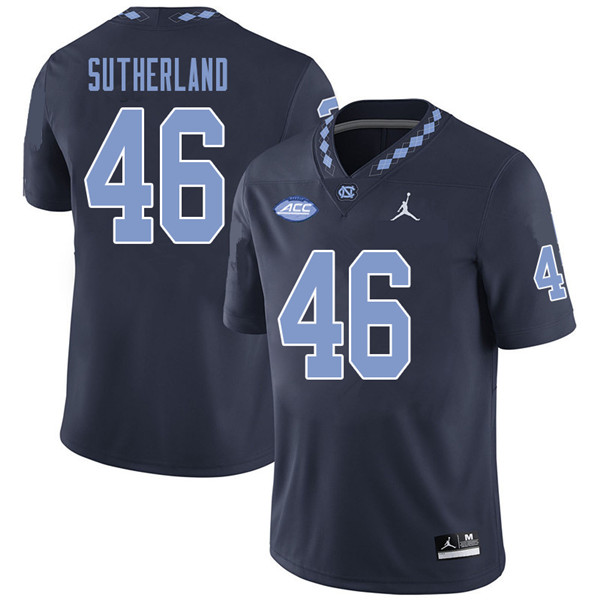 Jordan Brand Men #46 Bill Sutherland North Carolina Tar Heels College Football Jerseys Sale-Navy