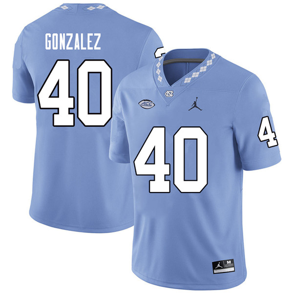 Jordan Brand Men #40 Dilan Gonzalez North Carolina Tar Heels College Football Jerseys Sale-Carolina
