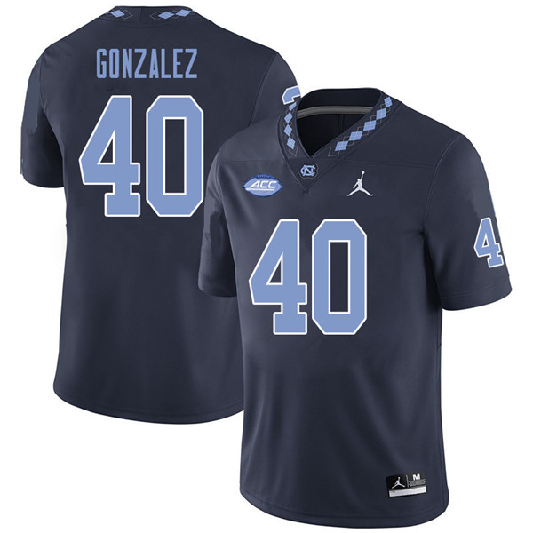 Jordan Brand Men #40 Dilan Gonzalez North Carolina Tar Heels College Football Jerseys Sale-Navy
