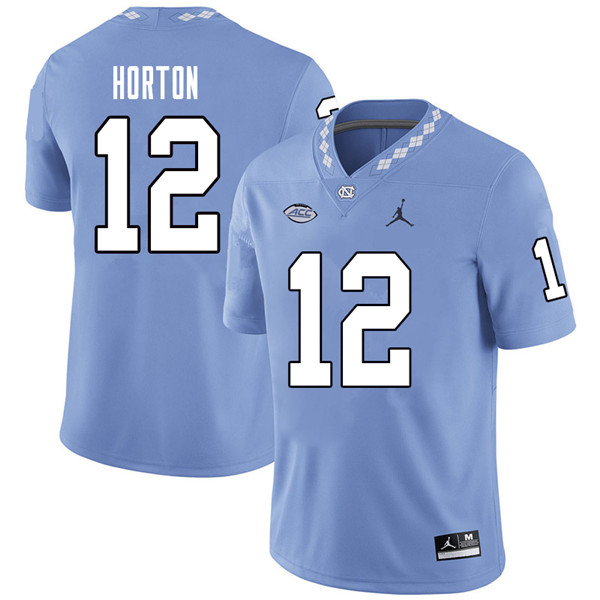 Jordan Brand Men #12 Ethan Horton North Carolina Tar Heels College Football Jerseys Sale-Carolina Bl