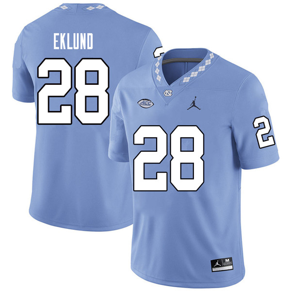 Jordan Brand Men #28 Graham Eklund North Carolina Tar Heels College Football Jerseys Sale-Carolina B