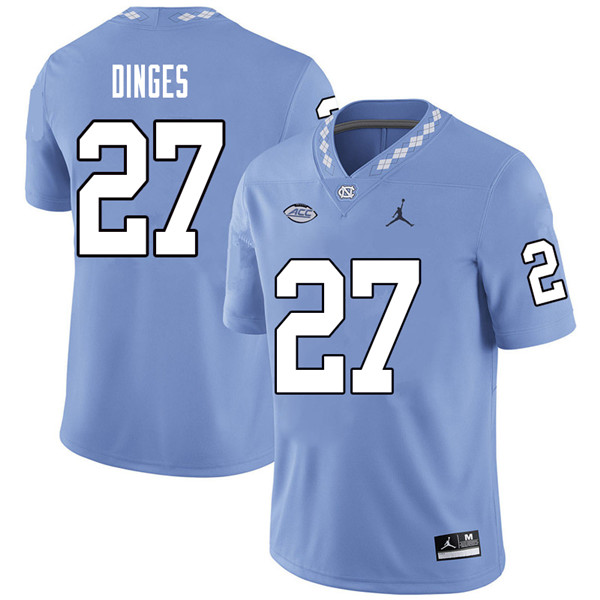 Jordan Brand Men #27 Jack Dinges North Carolina Tar Heels College Football Jerseys Sale-Carolina Blu