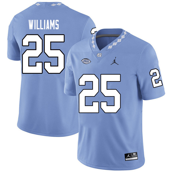 Jordan Brand Men #25 Javonte Williams North Carolina Tar Heels College Football Jerseys Sale-Carolin