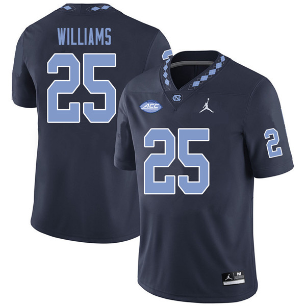Jordan Brand Men #25 Javonte Williams North Carolina Tar Heels College Football Jerseys Sale-Navy