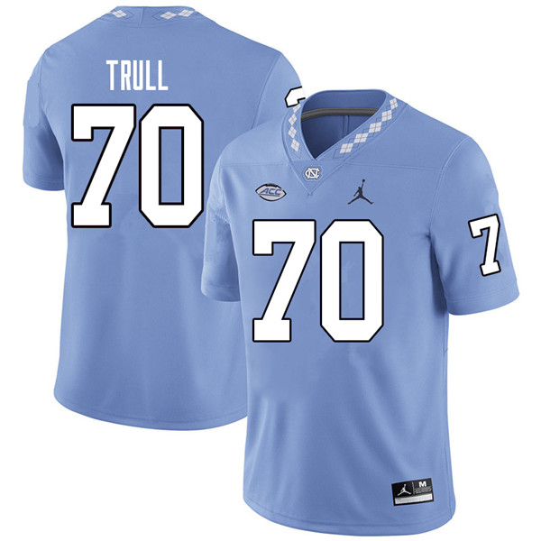 Jordan Brand Men #70 Jonathan Trull North Carolina Tar Heels College Football Jerseys Sale-Carolina