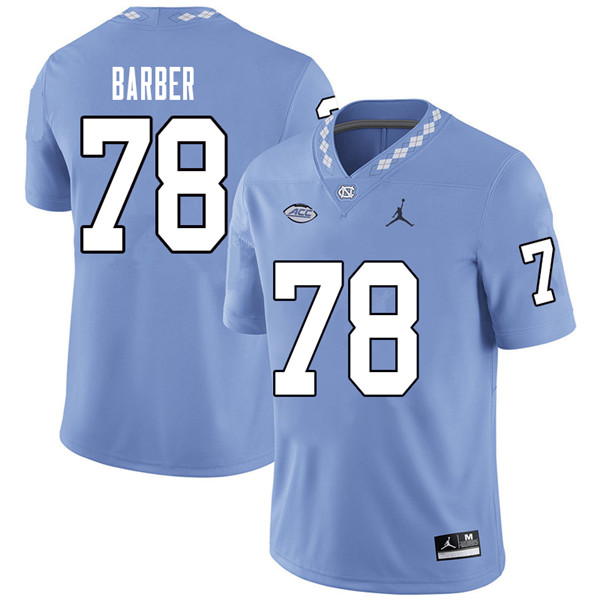 Jordan Brand Men #78 Layton Barber North Carolina Tar Heels College Football Jerseys Sale-Carolina B