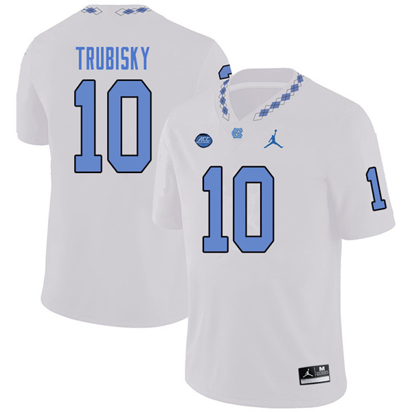 Jordan Brand Men #10 Mitchell Trubisky North Carolina Tar Heels College Football Jerseys Sale-White