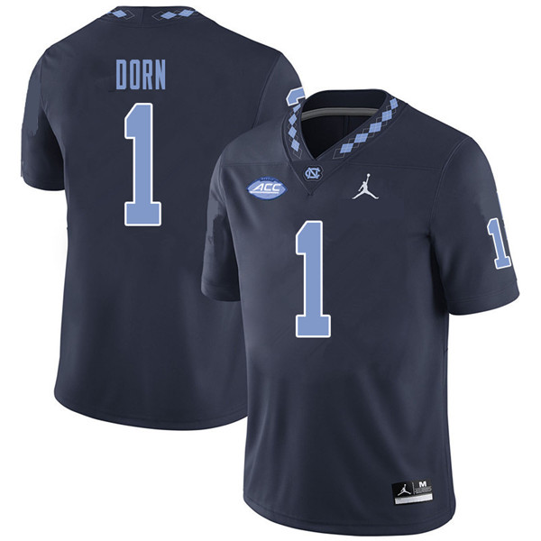 Jordan Brand Men #1 Myles Dorn North Carolina Tar Heels College Football Jerseys Sale-Navy