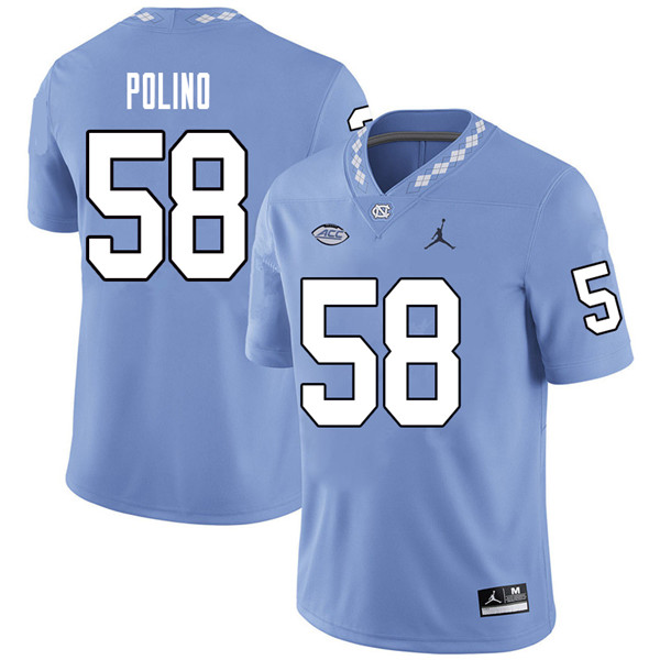 Jordan Brand Men #58 Nick Polino North Carolina Tar Heels College Football Jerseys Sale-Carolina Blu