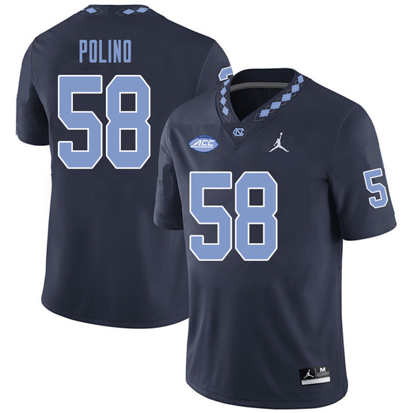 Jordan Brand Men #58 Nick Polino North Carolina Tar Heels College Football Jerseys Sale-Navy