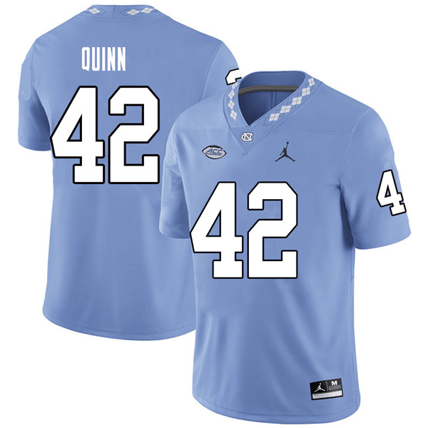 Jordan Brand Men #42 Robert Quinn North Carolina Tar Heels College Football Jerseys Sale-Carolina Bl
