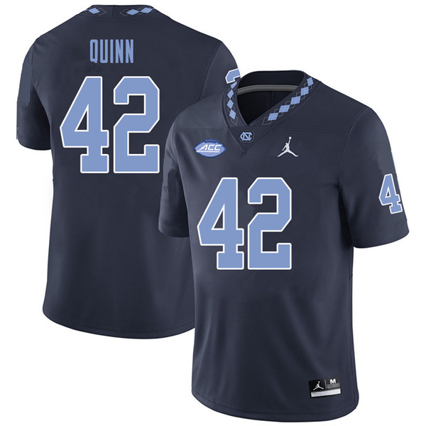 Jordan Brand Men #42 Robert Quinn North Carolina Tar Heels College Football Jerseys Sale-Navy