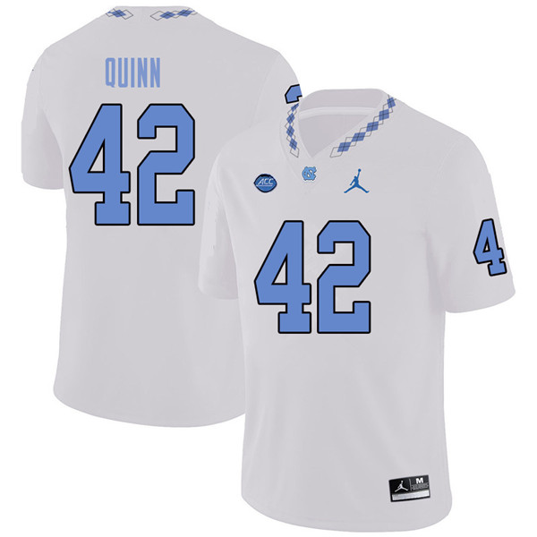 Jordan Brand Men #42 Robert Quinn North Carolina Tar Heels College Football Jerseys Sale-White