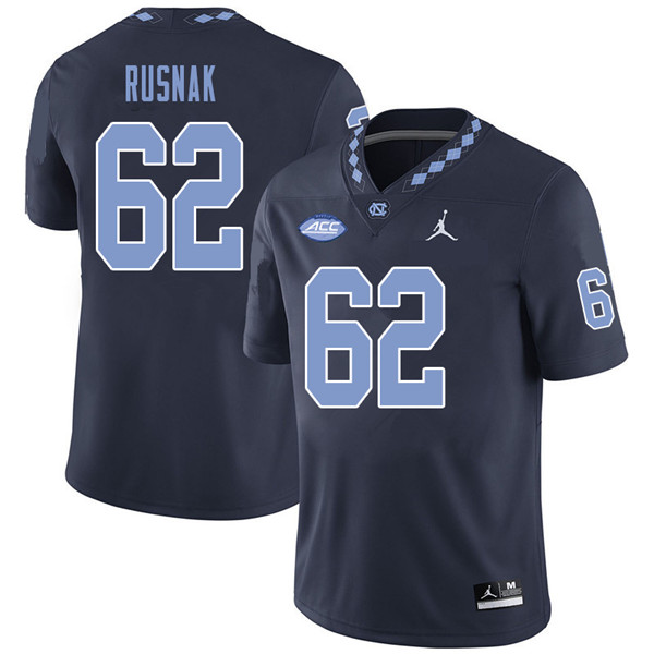 Jordan Brand Men #62 Ron Rusnak North Carolina Tar Heels College Football Jerseys Sale-Navy
