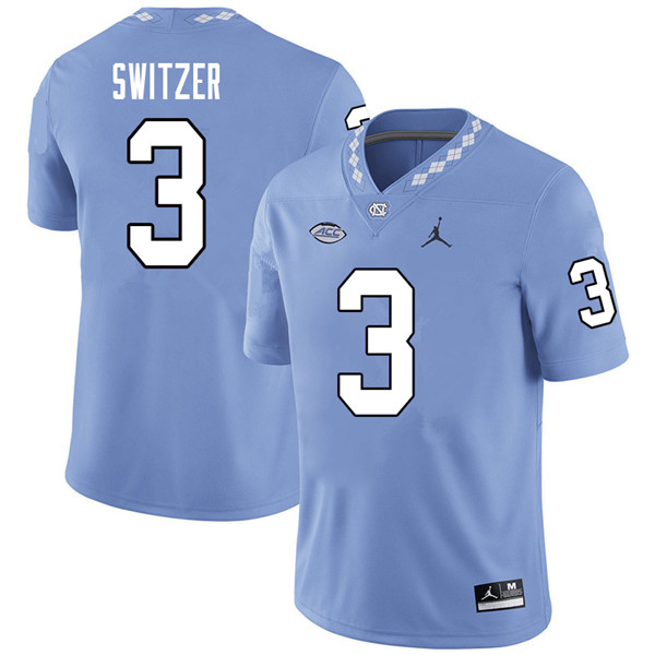 Jordan Brand Men #3 Ryan Switzer North Carolina Tar Heels College Football Jerseys Sale-Carolina Blu