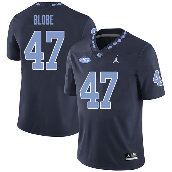 Jordan Brand Men #47 Sam Blobe North Carolina Tar Heels College Football Jerseys Sale-Navy