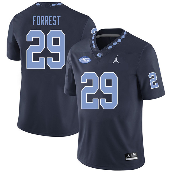 Jordan Brand Men #29 Will Forrest North Carolina Tar Heels College Football Jerseys Sale-Navy