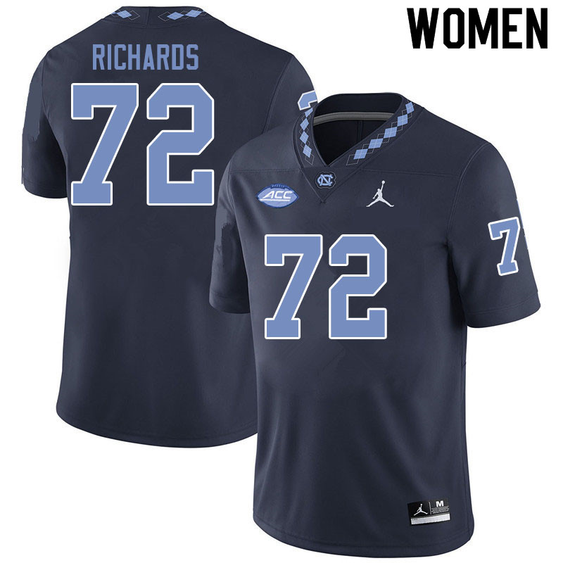 Jordan Brand Women #72 Asim Richards North Carolina Tar Heels College Football Jerseys Sale-Black