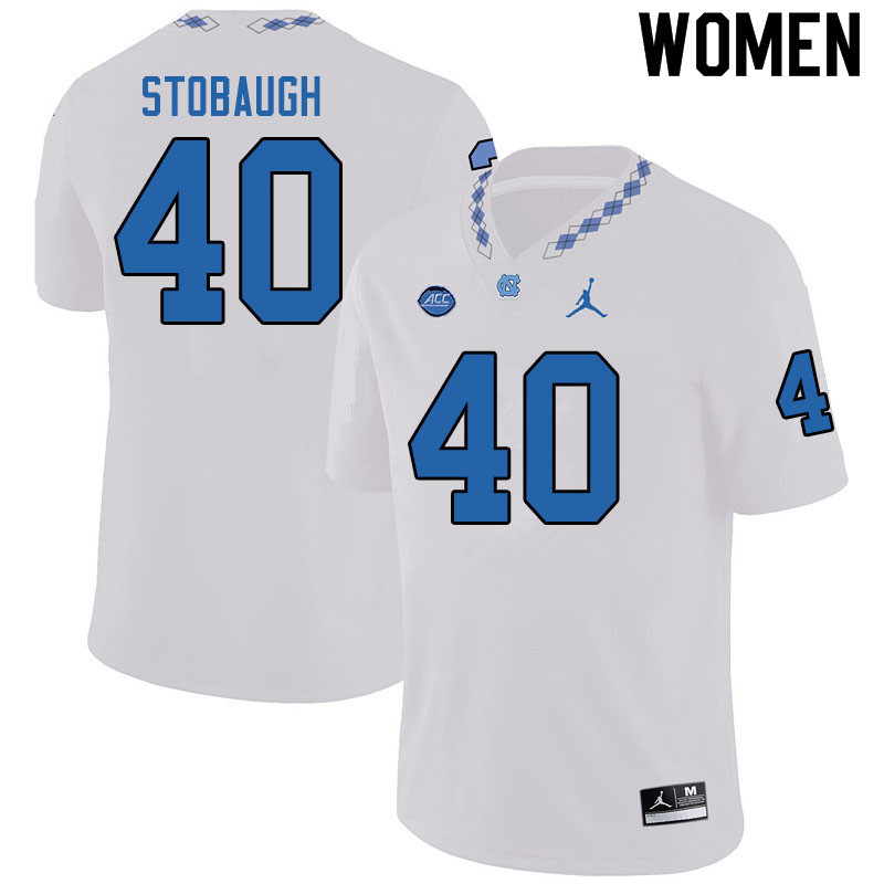 Jordan Brand Women #40 Ben Stobaugh North Carolina Tar Heels College Football Jerseys Sale-White