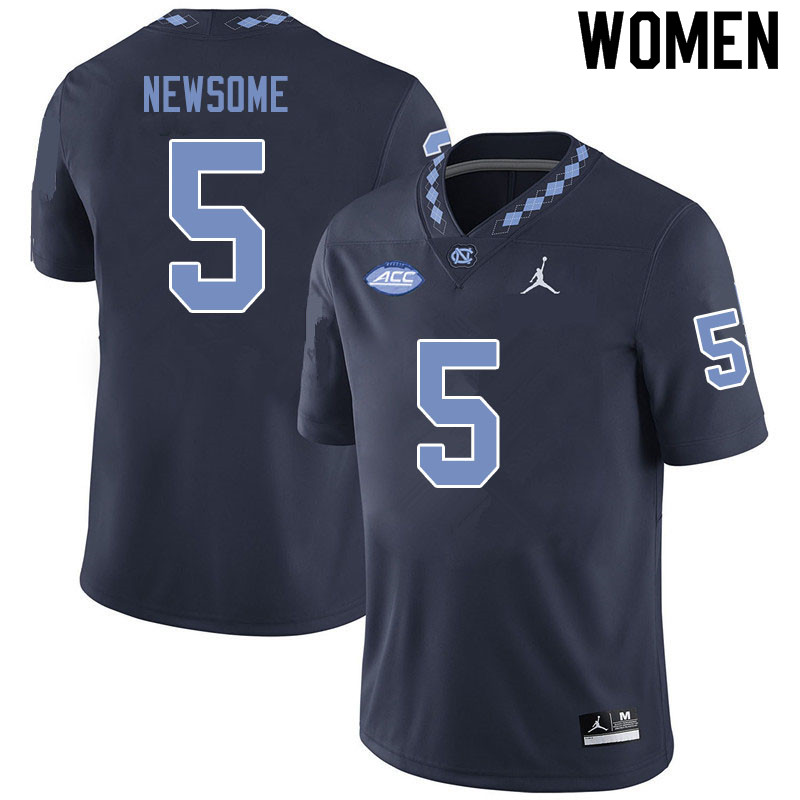 Jordan Brand Women #5 Dazz Newsome North Carolina Tar Heels College Football Jerseys Sale-Black