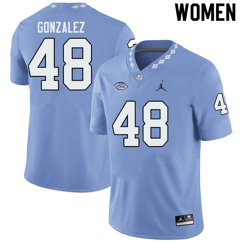 Jordan Brand Women #48 Dilan Gonzalez North Carolina Tar Heels College Football Jerseys Sale-Blue
