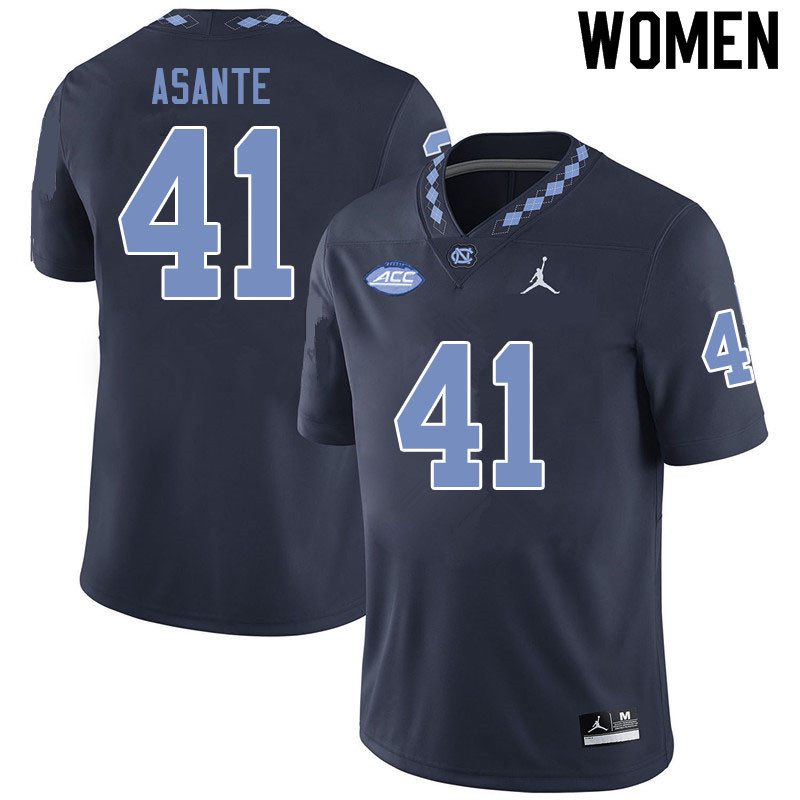 Jordan Brand Women #41 Eugene Asante North Carolina Tar Heels College Football Jerseys Sale-Black