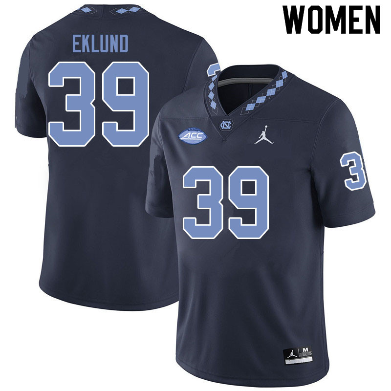 Jordan Brand Women #39 Graham Eklund North Carolina Tar Heels College Football Jerseys Sale-Black