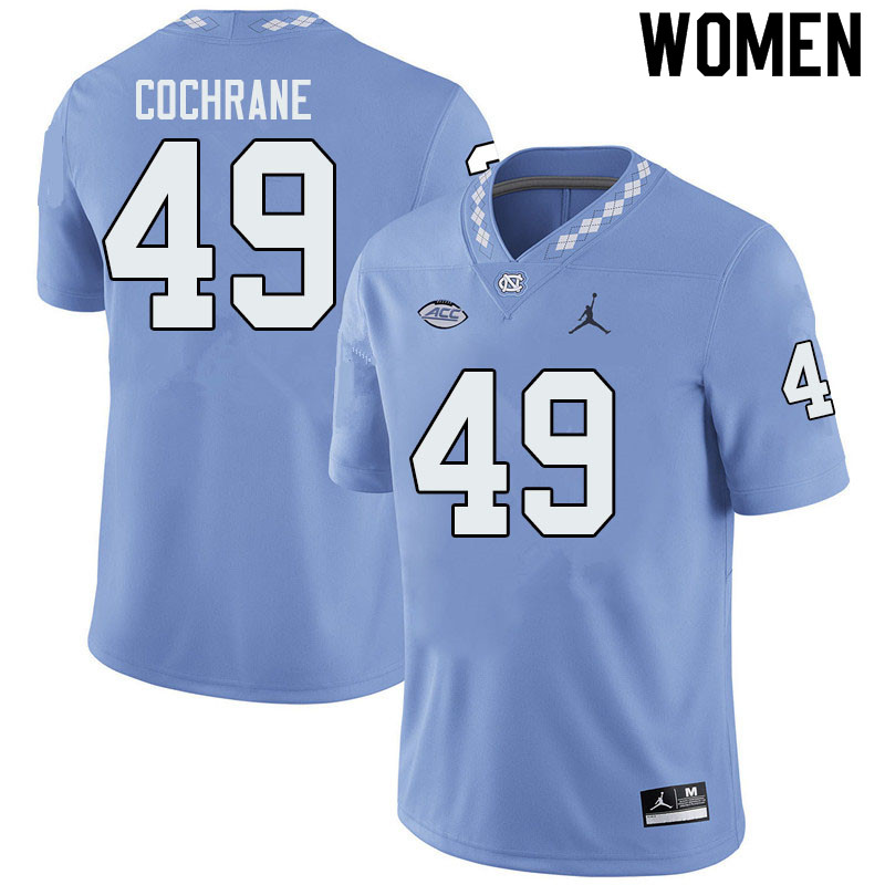 Jordan Brand Women #49 Parks Cochrane North Carolina Tar Heels College Football Jerseys Sale-Blue
