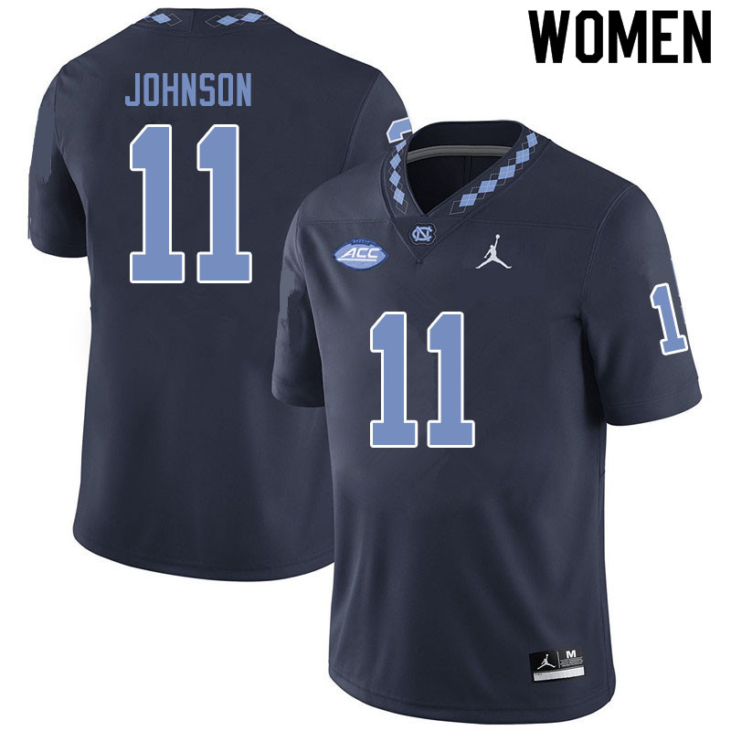 Jordan Brand Women #11 Roscoe Johnson North Carolina Tar Heels College Football Jerseys Sale-Black