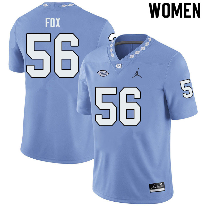 Jordan Brand Women #56 Tomari Fox North Carolina Tar Heels College Football Jerseys Sale-Blue