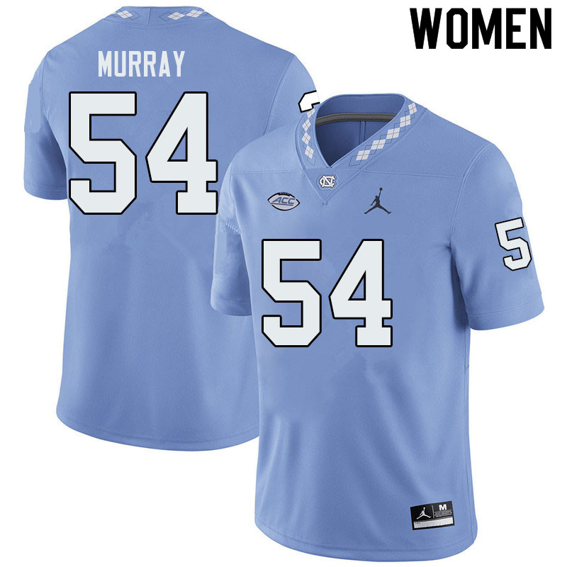 Jordan Brand Women #54 Ty Murray North Carolina Tar Heels College Football Jerseys Sale-Blue
