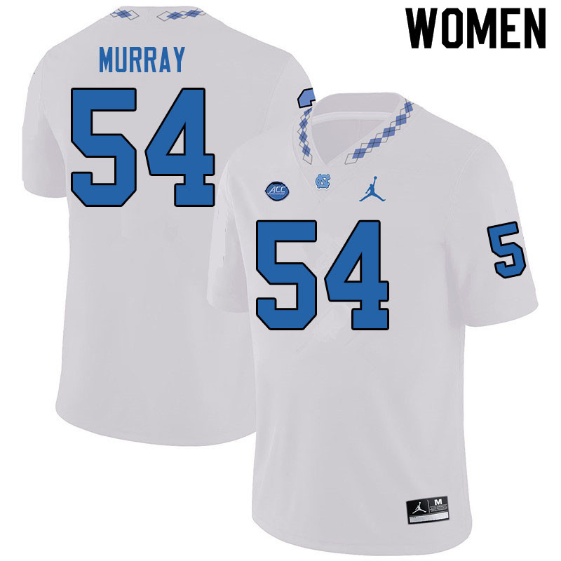 Jordan Brand Women #54 Ty Murray North Carolina Tar Heels College Football Jerseys Sale-White