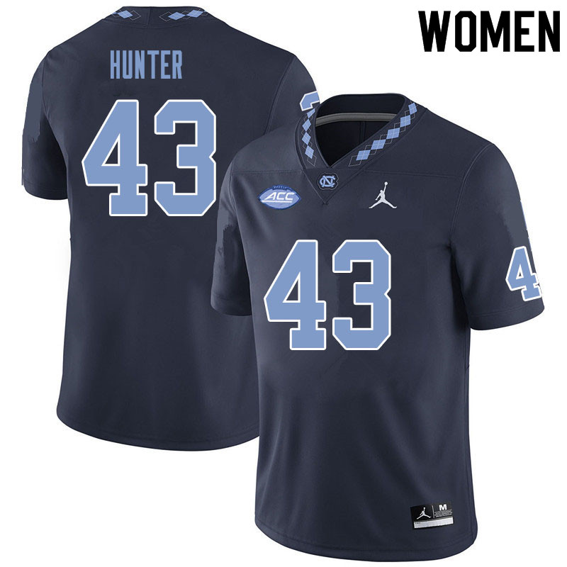 Women #43 Braden Hunter North Carolina Tar Heels College Football Jerseys Sale-Black