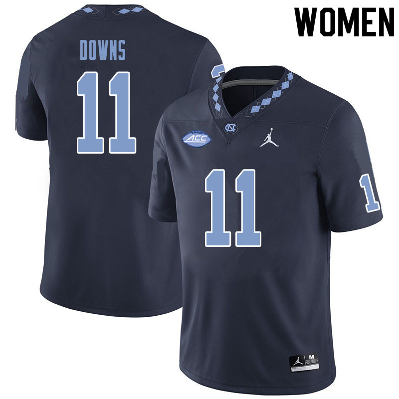 Women #11 Josh Downs North Carolina Tar Heels College Football Jerseys Sale-Black