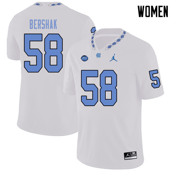 Jordan Brand Women #59 Andy Bershak North Carolina Tar Heels College Football Jerseys Sale-White