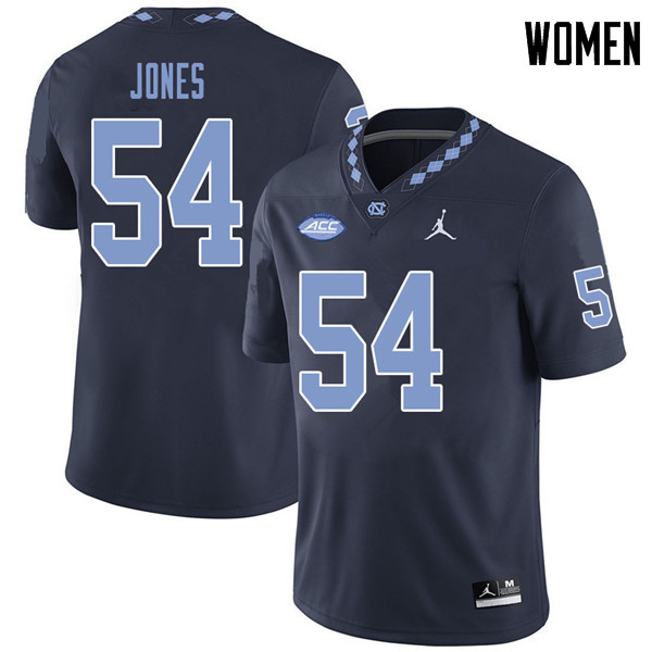 Jordan Brand Women #54 Avery Jones North Carolina Tar Heels College Football Jerseys Sale-Navy