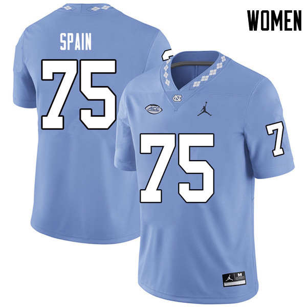 Jordan Brand Women #75 Bentley Spain North Carolina Tar Heels College Football Jerseys Sale-Carolina