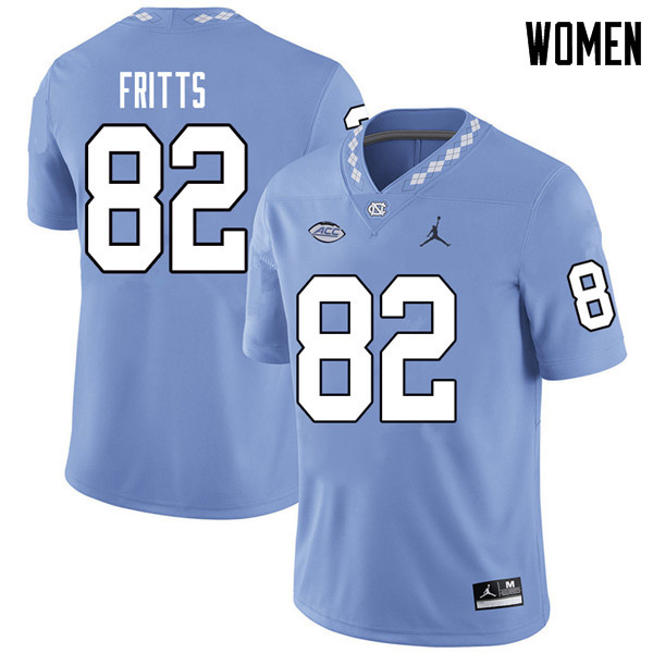Jordan Brand Women #82 Brandon Fritts North Carolina Tar Heels College Football Jerseys Sale-Carolin