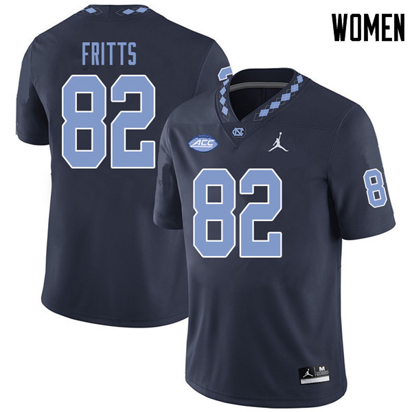 Jordan Brand Women #82 Brandon Fritts North Carolina Tar Heels College Football Jerseys Sale-Navy