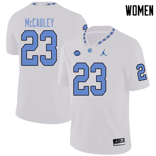 Jordan Brand Women #23 Don McCauley North Carolina Tar Heels College Football Jerseys Sale-White