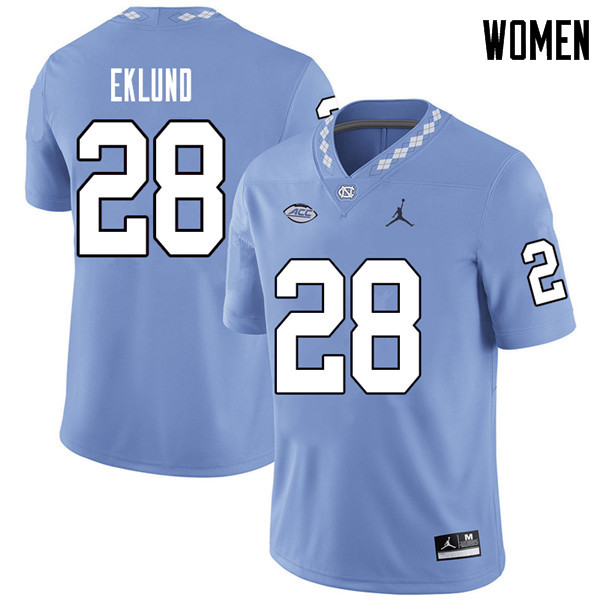 Jordan Brand Women #28 Graham Eklund North Carolina Tar Heels College Football Jerseys Sale-Carolina