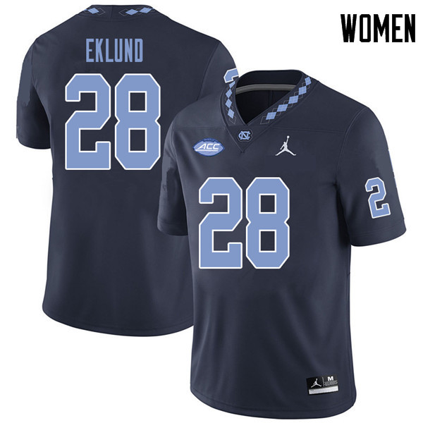 Jordan Brand Women #28 Graham Eklund North Carolina Tar Heels College Football Jerseys Sale-Navy