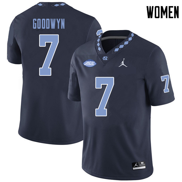 Jordan Brand Women #7 Gray Goodwyn North Carolina Tar Heels College Football Jerseys Sale-Navy