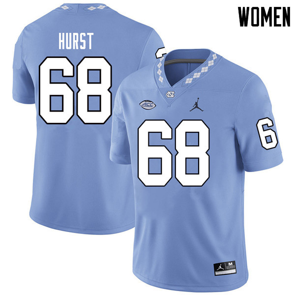 Jordan Brand Women #68 James Hurst North Carolina Tar Heels College Football Jerseys Sale-Carolina B