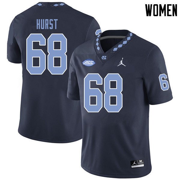 Jordan Brand Women #68 James Hurst North Carolina Tar Heels College Football Jerseys Sale-Navy
